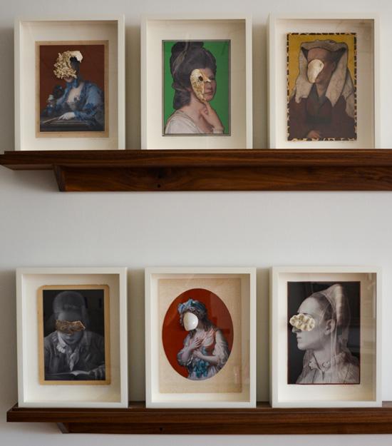 series of six paintings